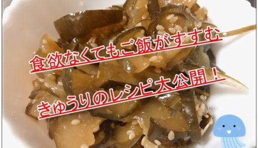 きゅうりを大量消費できるきゅうりのきゅうちやん風漬物