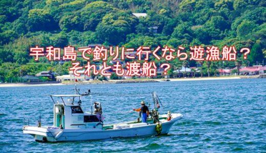 宇和島で釣りに行くなら遊漁船?それとも渡船?